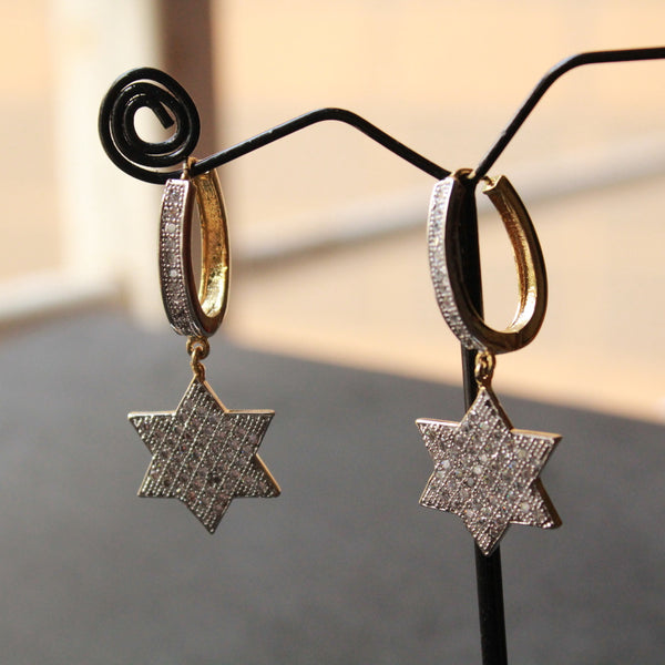 Star Hanging Earring with american diamond stone.