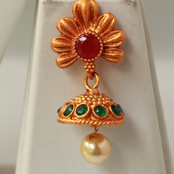 Kundan Pendant Chain Necklace