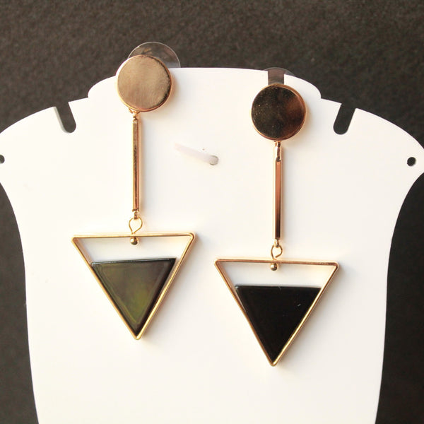 Geometric fancy earring