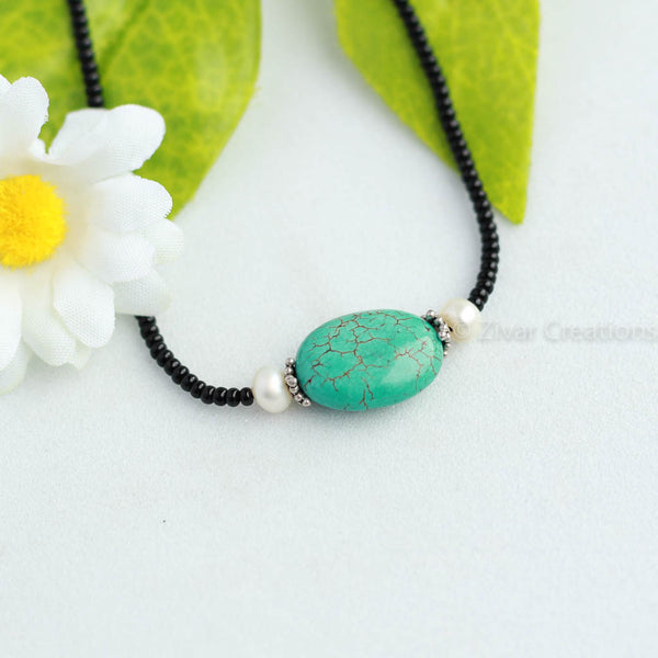 Real Turquoise Mangalsutra