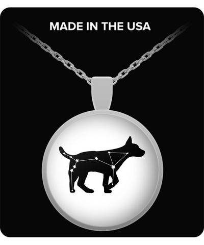 Canis Major (Dog Star) Constellation Round Necklace Pendant