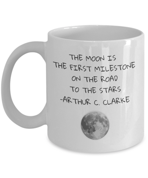 On The Road to the Stars Moon Space Quote Mug