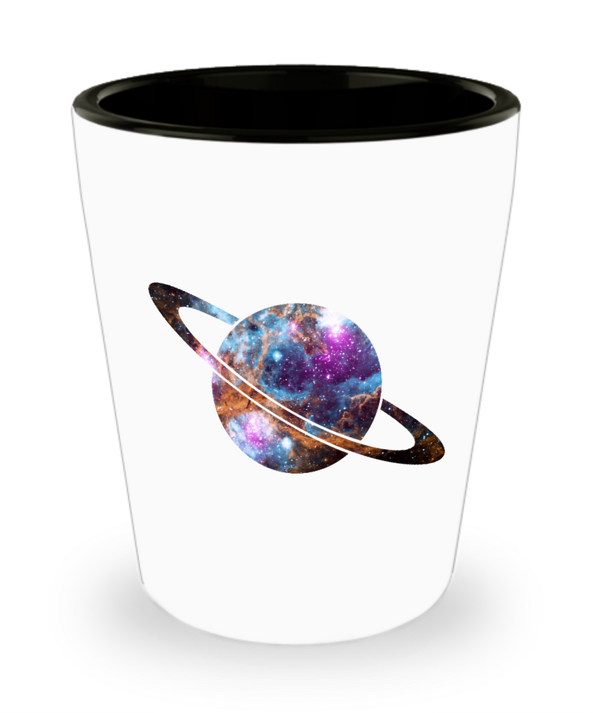 Saturn Space Planet Drinking Party Shot Glass