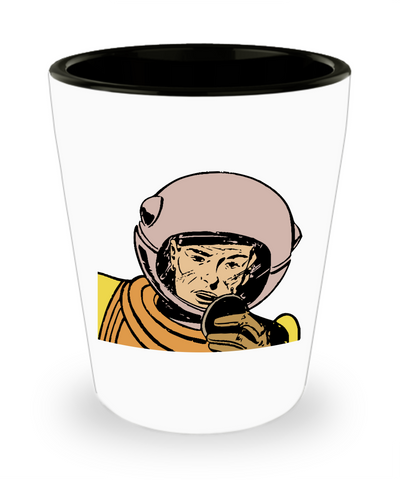 Cartoon Comic Space Astronaut Drinking Party Shot Glass