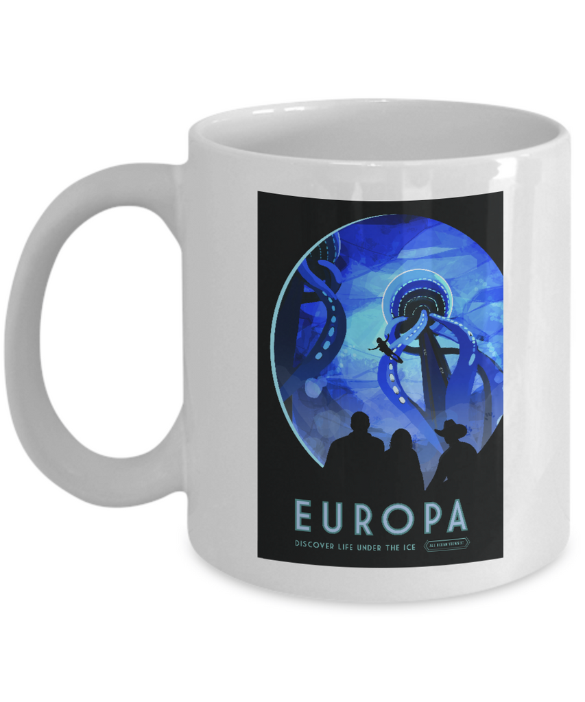 Europa Vintage Moon Mug for Space Fans