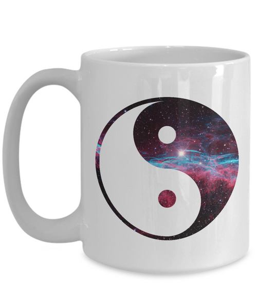 Yin Yang Space Galaxy Coffee or Tea Mug