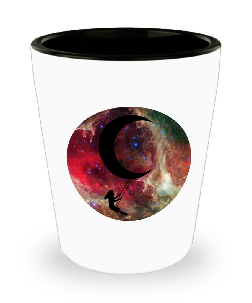Swinging On The Moon Space Galaxy Drinking Party Shot Glass