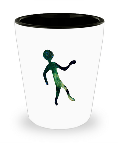 Alien Rock Art Drinking Party Shot Glass