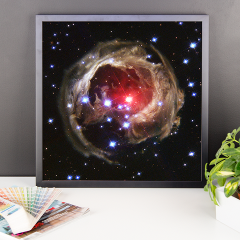 Space Art Framed Poster - V838 Mon - Traverse Space