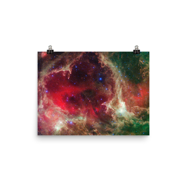 Space Art Poster - The Heart Nebula - Traverse Space