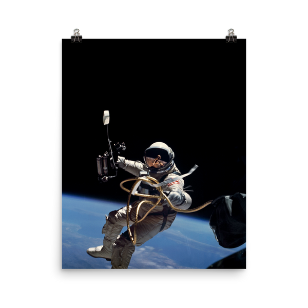 Space Art Poster - First Space Walk - Traverse Space