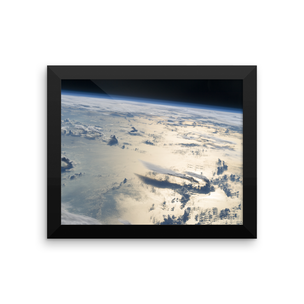 Space Art Framed Poster - Cloudscape Over the Philippine Sea - Traverse Space