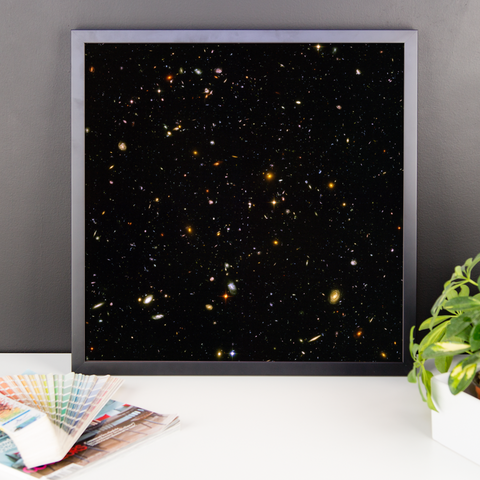 Space Art Framed Poster - Hubble Ultra-Deep Field - Traverse Space