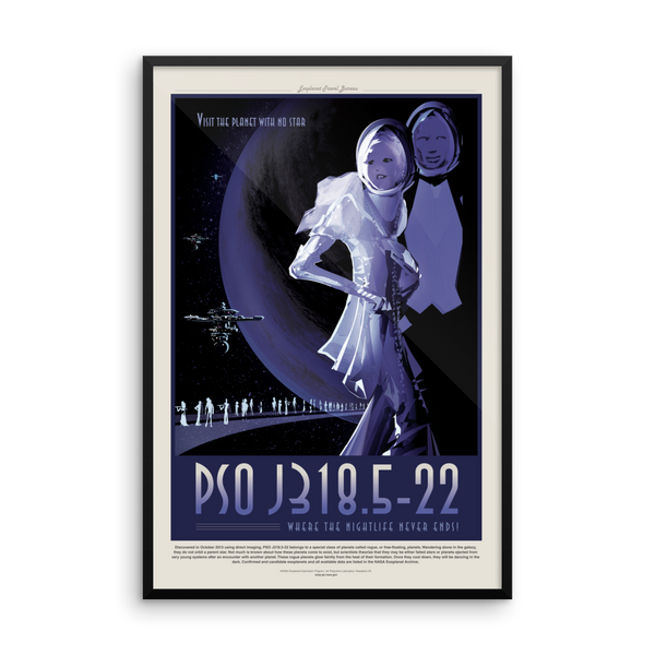 Vintage Space Art Framed Poster - PSO J318.5-22 - Traverse Space