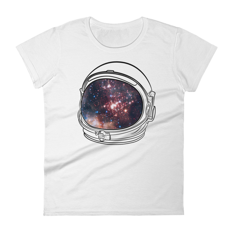Space T-Shirt Women's - Astronaut Helmet