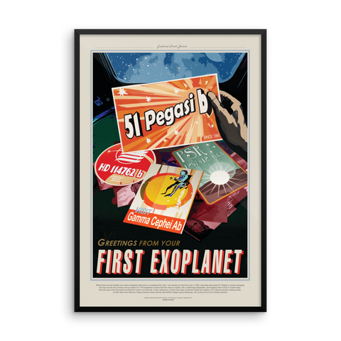 Vintage Space Art Framed Poster - 51 Pegasi b - Traverse Space