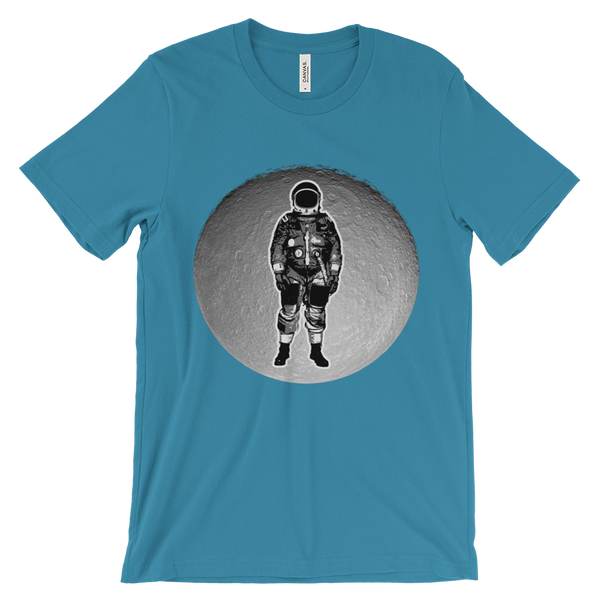 Space T-Shirt Men's - Astronaut on the Moon