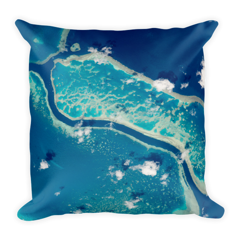 Space Pillow Square - Great Barrier Reef - Traverse Space