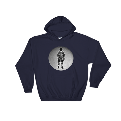 Space Hoodie Men's - Astronaut on the Moon
