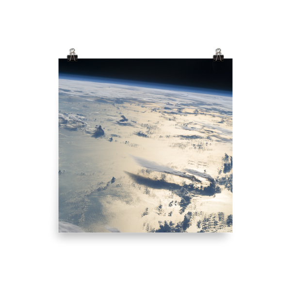 Space Art Poster - Cloudscape Over the Philippine Sea - Traverse Space