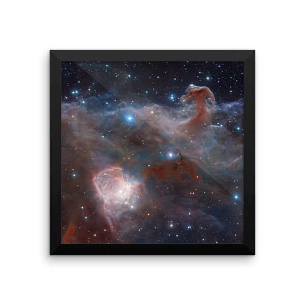 Space Art Framed Poster - Horsehead Nebula (Wide View) - Traverse Space