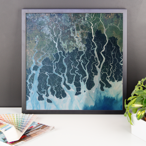 Space Art Framed Poster - Sundarbans - Traverse Space