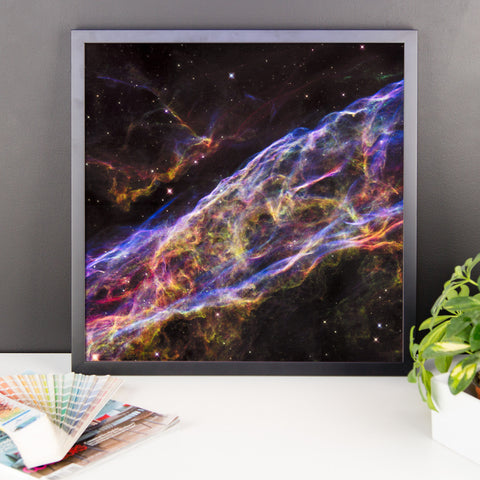 Space Art Framed Poster - Veil Nebula Supernova Remnant - Traverse Space