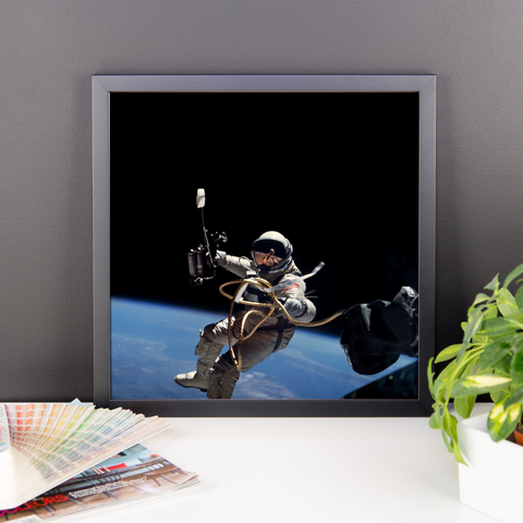 Space Art Framed Poster - First Space Walk - Traverse Space