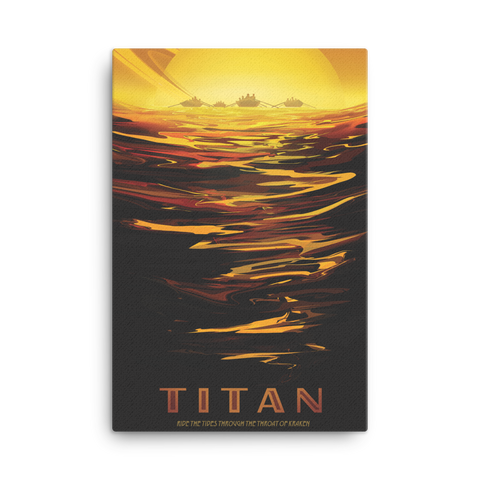 Vintage Space Canvas 24x36 - Titan - Traverse Space