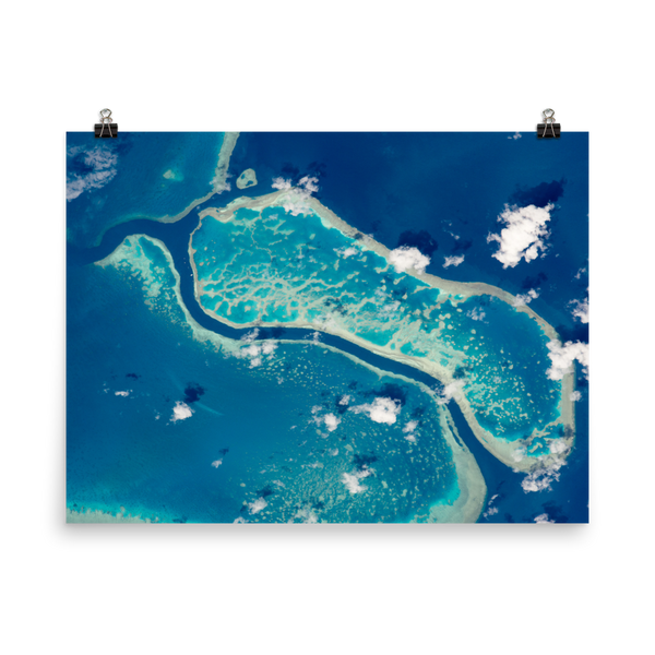 Space Art Poster - Great Barrier Reef - Traverse Space