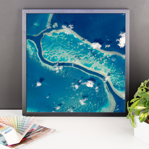 Space Art Framed Poster - Great Barrier Reef - Traverse Space
