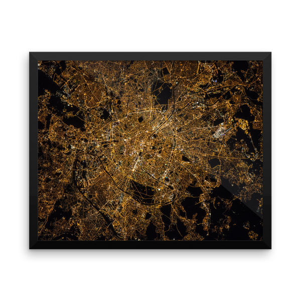 Space Art Framed Poster - Paris At Night - Traverse Space