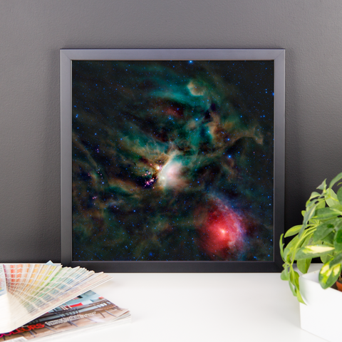 Space Art Framed Poster - Rho Ophiuchi Cloud Complex - Traverse Space