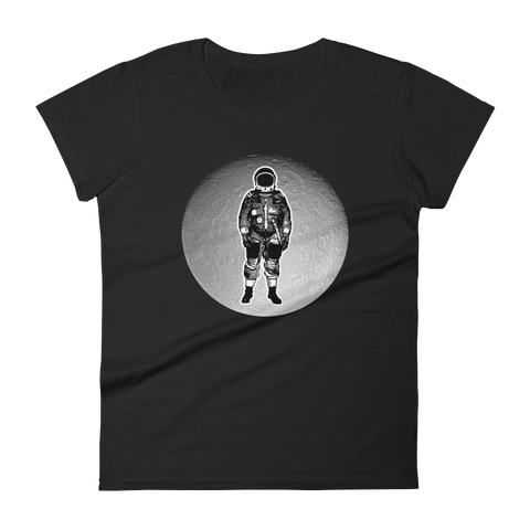 Space T-Shirt Women's - Astronaut on the Moon