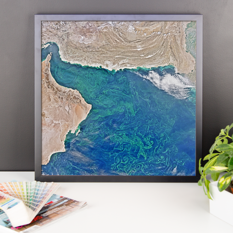 Space Art Framed Poster - Blooms In The Arabian Sea - Traverse Space