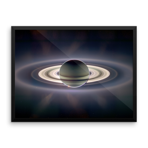 Space Art Framed Poster - The Rings of Saturn - Traverse Space