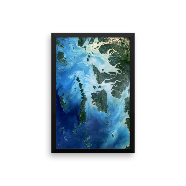 Space Art Framed Poster - Landsat Captures Southeast Asia - Traverse Space