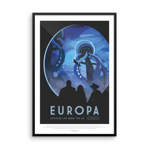 Vintage Space Art Framed Poster - Europa - Traverse Space