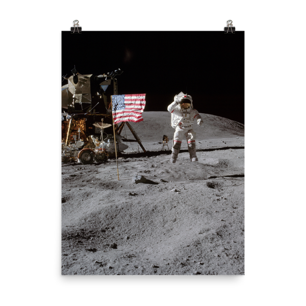 Space Art Poster - Lunar Salute - Traverse Space