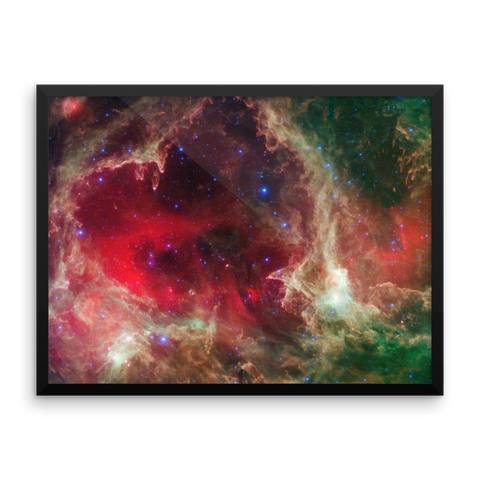 Space Art Framed Poster - The Heart Nebula - Traverse Space