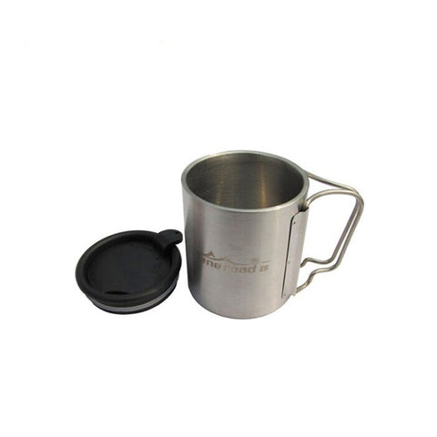 Portable Camping Cup with Folding Handle