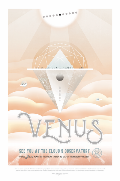 Vintage Space Art Framed Poster - Venus - Traverse Space