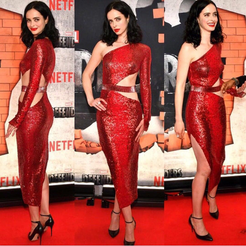 krysten ritter at the defenders premiere in new york - Chic Luxury Sequins Dress