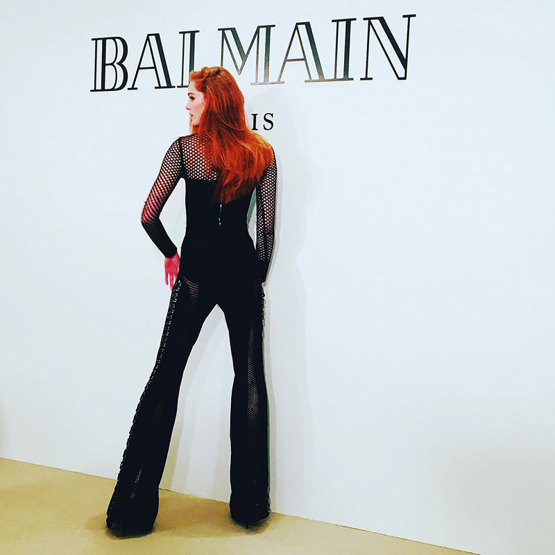 54dad2ce1aea Alexina showcased her slender shape in a black mesh jumpsuit at the event. Alexina  Black Mesh Jumpsuit Black Mesh Jumpsuit ...