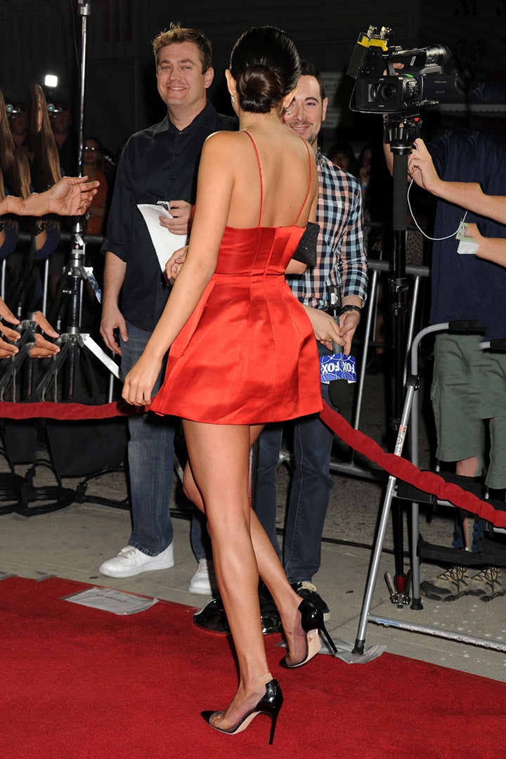 "Selena Gomez in a short dress at the premiere of ""Uncontrollable"""