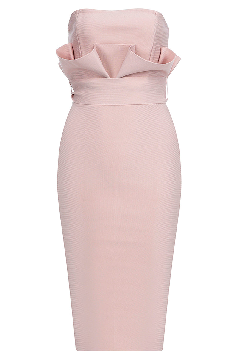 Off The Shoulder Ruffles Waist Lace Up Sashes Sheath Dress - CHICIDA