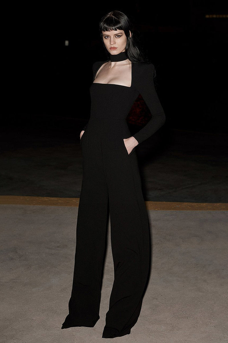 Black Strappy Bandage Jumpsuit