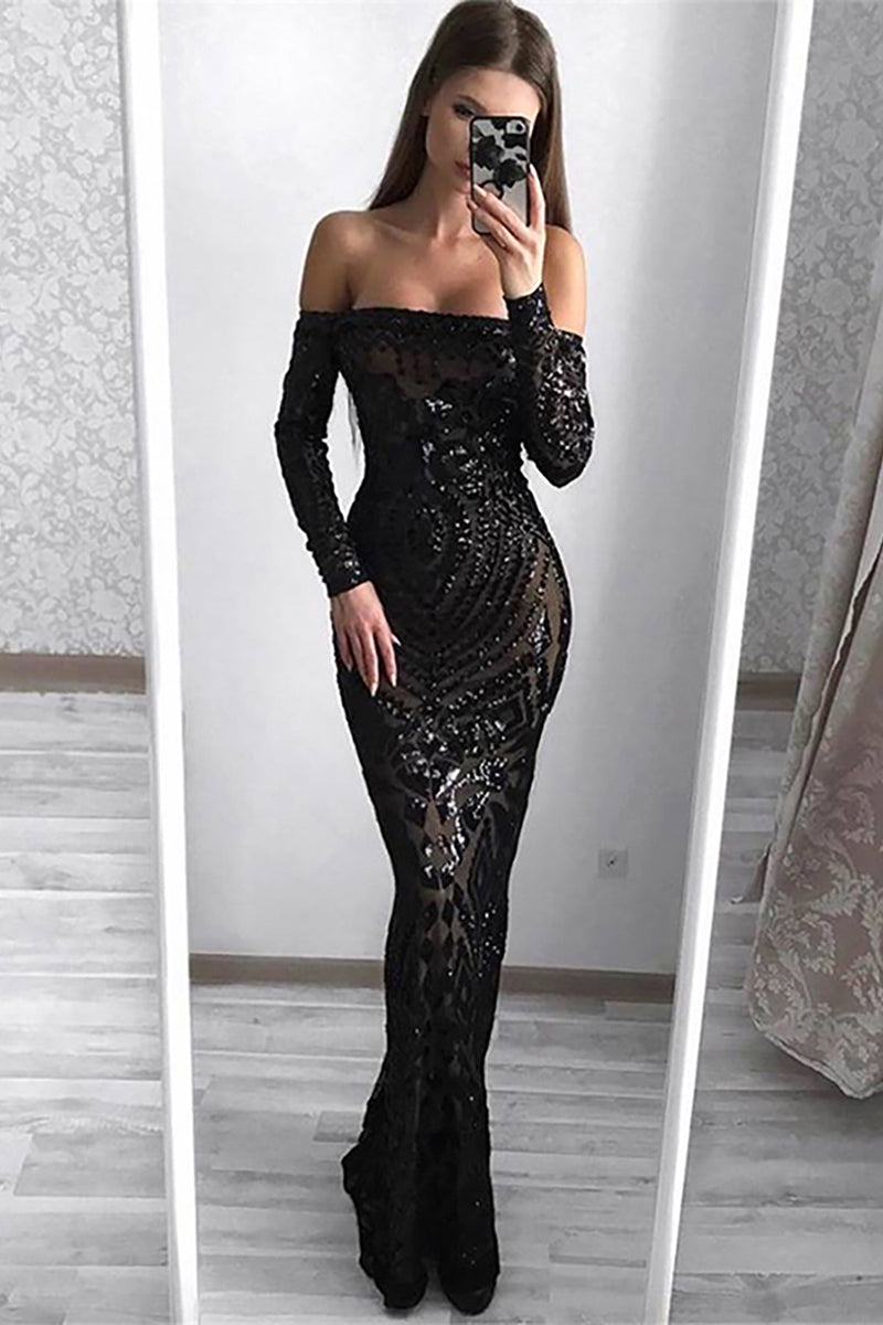 Mesh Mermaid Sequin Wedding Dresses - CHICIDA