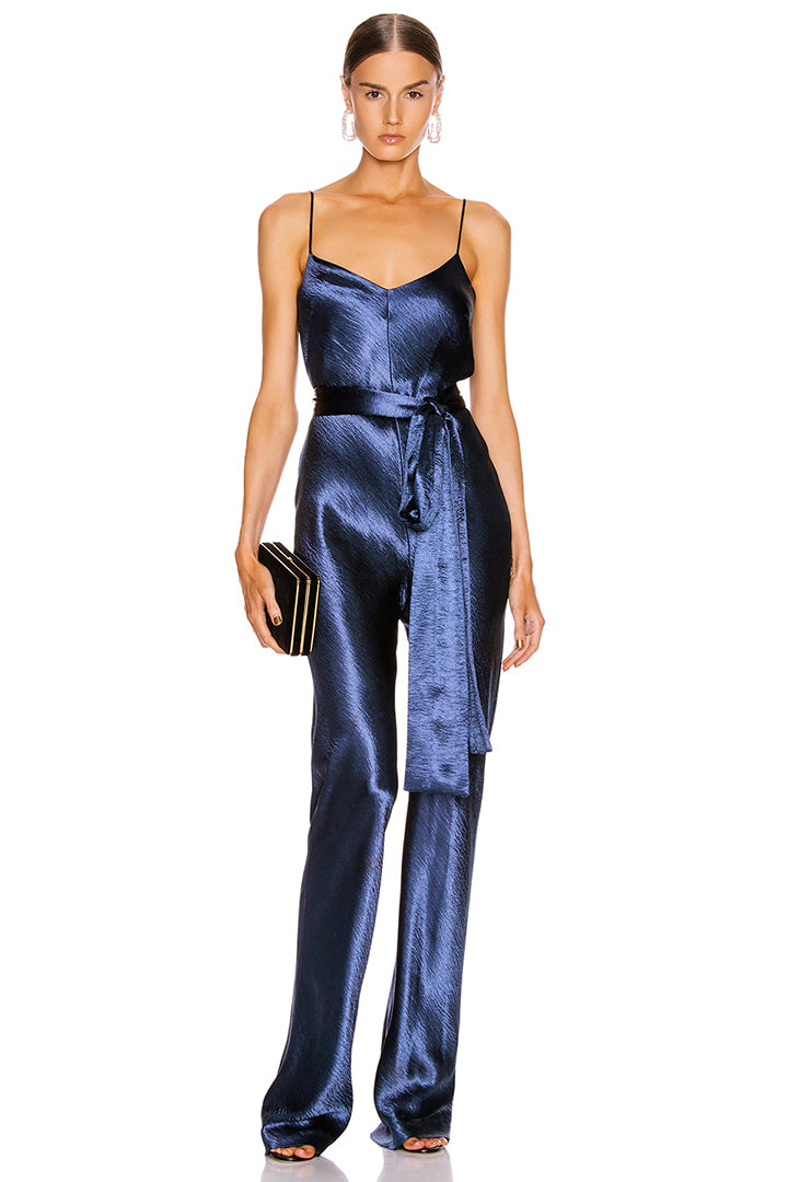Multi V-Neck Sequins Jumpsuit