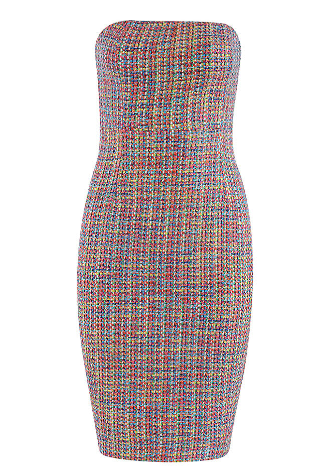 Casual Strapless Multicolored Dress - CHICIDA